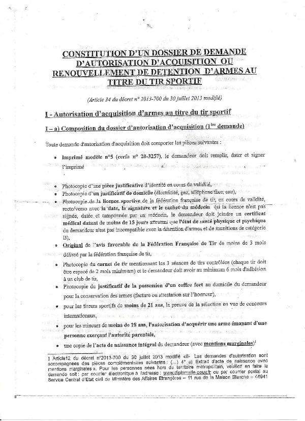 Reglementation 2013